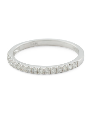 14k White Gold 0.17 Tcw Diamond Ring