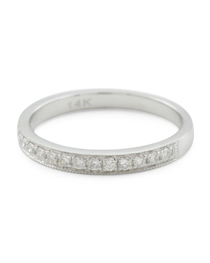 14k White Gold 0.25 Tcw Diamond Ring