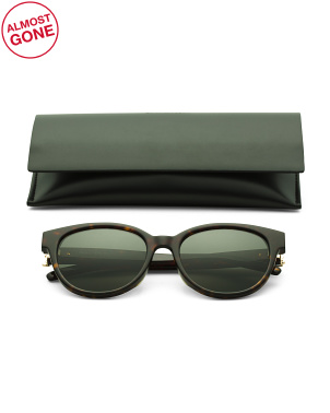 55mm Oval Designer Sunglasses