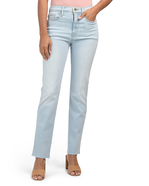 Made In Usa Le Sylvie Slender Straight Leg Raw Jeans