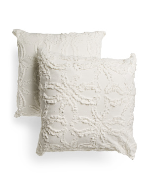 2pk Tori Tufted Euro Pillows