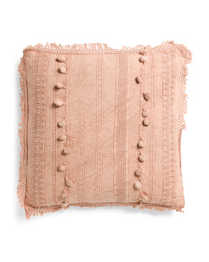 20x20 Garment Wash Textured Pillow