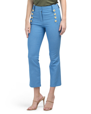Robertson Sailor Button Cropped Flare Trousers