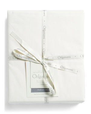 280tc Organic Percale Sheet Set