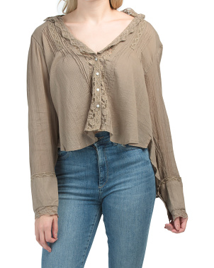 Clemence Button Down Top