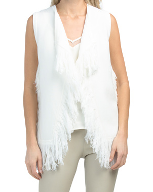 Sweater Vest With Fringe