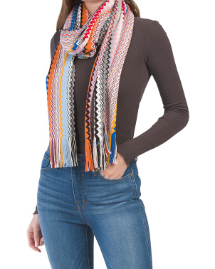 Made In Italy Fringe Scarf