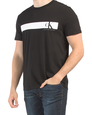 Monogram Chest Band Tee