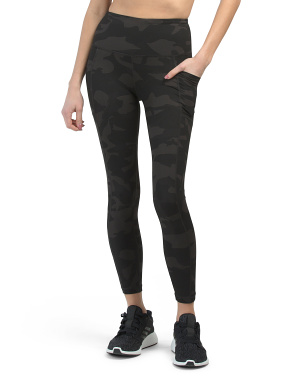 Lux Camo High Rise Side Pocket Ankle Leggings