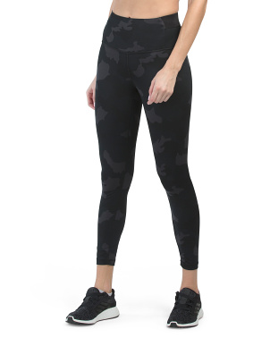 Lux Printed Supportive Waistband Ankle Leggings