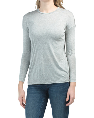Petite Long Sleeve Crew Neck Top