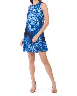 Gwen Tie Dye Print Swing Dress
