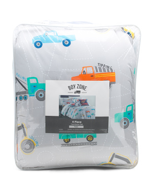 Road Construction Comforter Set