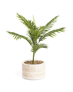 31in Palm In Tribal Pot On Stand