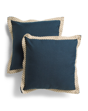 19x19 2pk Embroidered Border Pillow Set