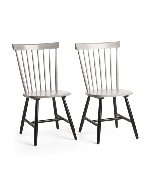 Set Of 2 Windsor Dining Chairs