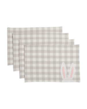 Set Of 4 Peeking Ears Placemats