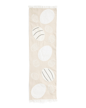 14x68 Eyelet Eggs Table Runner
