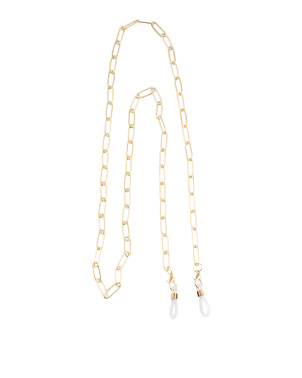 Gold Link Eyeglass Or Mask Chain
