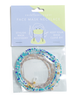 2pk Ocean Glass Beaded Mask Chains
