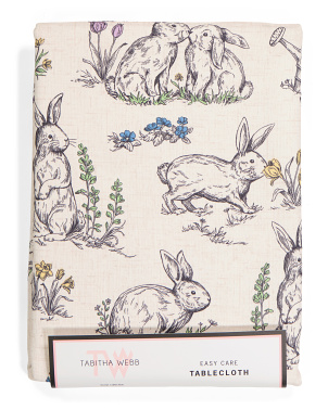 Springtime Bunny Tablecloth