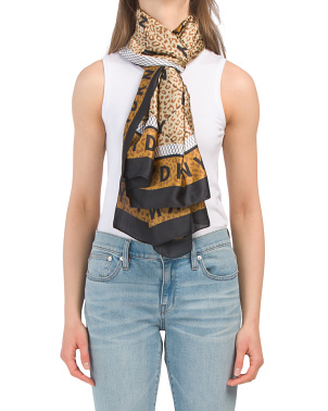 Cheetah Print Satin Scarf