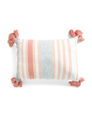14x20 Indoor Outdoor Thick And Thin Stripe Pillow