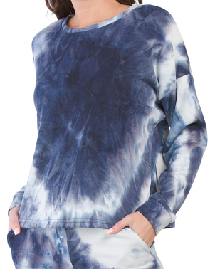 Juniors The Oversized Tie Dye Crew Neck Sweatshirt
