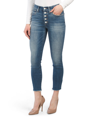 High Rise Bridgette Skinny Button Fly Jeans