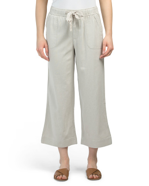 Linen Pull On Clam Digger Pants