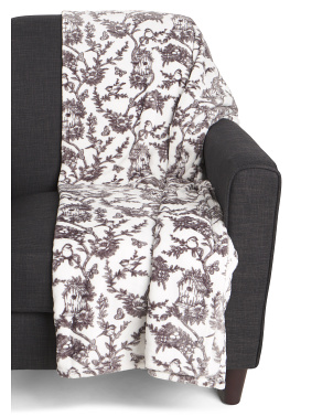 Avian Toile Throw