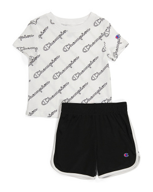 Toddler Boys 2pc Mesh Short Set