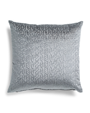 24x24 Oversized Velvet Pillow With Metallic Embroidery