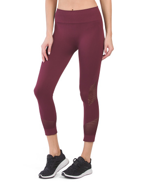 Made In Usa High Waist Network Crop Leggings