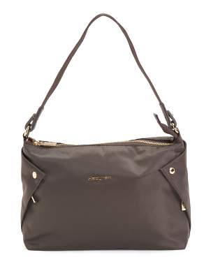 Reflect Nylon Hobo With Side Detail Pockets