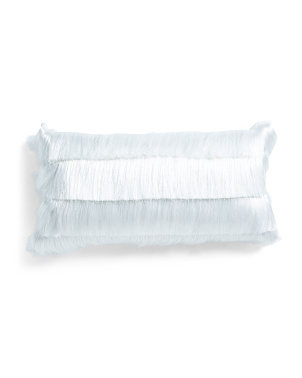 12x24 Layered Shag Lumbar Pillow