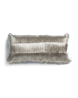 Layered Shag Lumbar Pillow