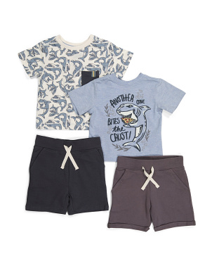 Toddler Boys 4pc Mix & Match Shark Short Set