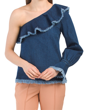 One Shoulder Denim Orla Top