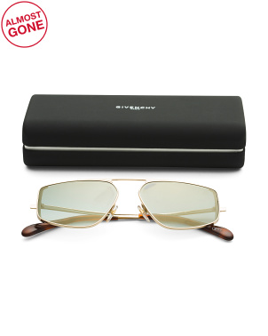 56mm Geometric Designer Sunglasses