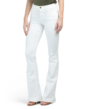 Made In Usa High Rise Stretch Wide Flare Jeans