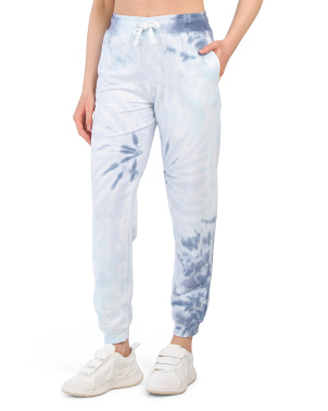 Juniors Drawstring Banded Tie Dye Joggers