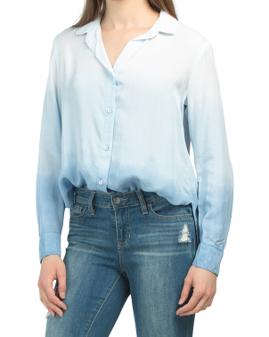 Made In Usa Ombre Button Down Top