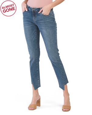 Erin Slim Straight Destructed Hem Jeans