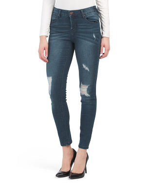 5 Pocket Destructed Skinny Jeans
