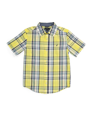 Big Boy Exploded Plaid Woven Shirt