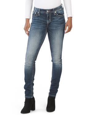Envelope Pocket Skinny Jeans