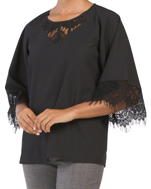 Lace Detail Woven Tunic