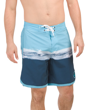Paint Wash Stripes Eboard Shorts