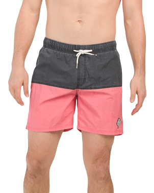 Solid Color Block Shorts